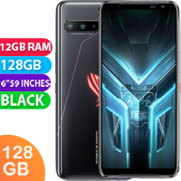 UNLOCKED New ASUS ROG Phone 3 ZS661KS Dual SIM 128GB 12GB RAM 5G Smartphone Black (FREE DELIVERY + 1 YEAR WARRANTY)