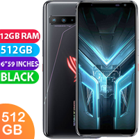 UNLOCKED New ASUS ROG Phone 3 ZS661KS Dual SIM 512GB 12GB RAM 5G Smartphone Black (FREE DELIVERY + 1 YEAR WARRANTY)