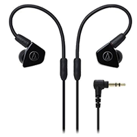 New Audio Technica ATH-LS50 In-ear Headphones Black (FREE DELIVERY + 1 YEAR WARRANTY)