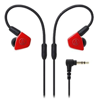 New Audio Technica ATH-LS50 In-ear Headphones Red (FREE DELIVERY + 1 YEAR WARRANTY)