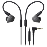 New Audio Technica ATH-LS70is In-ear Headphones Black (FREE DELIVERY + 1 YEAR WARRANTY)