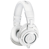 New Audio Technica ATH-M50x Over Ear Headphones White (FREE DELIVERY + 1 YEAR WARRANTY)