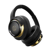 New Audio Technica ATH-WS660BT BT Headphones Black/Gold (FREE DELIVERY + 1 YEAR WARRANTY)