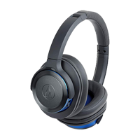 New Audio Technica ATH-WS660BT BT Headphones Grey/Blue (FREE DELIVERY + 1 YEAR WARRANTY)