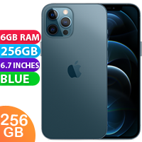 UNLOCKED New Apple iPhone 12 Pro Max Dual SIM 5G 6GB RAM 256GB Blue (FREE DELIVERY + 1 YEAR WARRANTY)