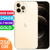 UNLOCKED New Apple iPhone 12 Pro Max Dual SIM 5G 6GB RAM 256GB Gold (FREE DELIVERY + 1 YEAR WARRANTY)