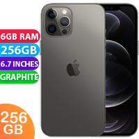 UNLOCKED New Apple iPhone 12 Pro Max Dual SIM 5G 6GB RAM 256GB Graphite  (FREE DELIVERY + 1 YEAR WARRANTY)