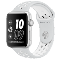 New Apple Watch Nike+ 42mm Sport Band Silver White (192) (FREE DELIVERY + 1 YEAR WARRANTY)