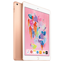 New Apple Ipad (9.7) 128GB 4G (2018) Tablet Gold (1 YEAR WARRANTY)