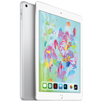 New Apple Ipad (9.7) 128GB 4G (2018) Tablet Silver (1 YEAR WARRANTY)