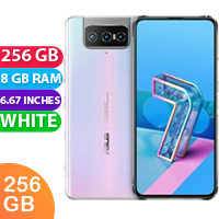 UNLOCKED New Asus Zenfone 7 Pro 256GB 8GB RAM Dual SIM Smartphone White (FREE DELIVERY + 1 YEAR WARRANTY)
