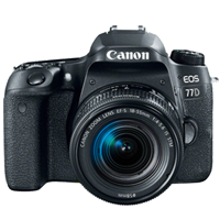 Canon EOS 77D 18-55mm Kits 24MP Digital SLR Camera (PRIORITY DELIVERY + FREE ACCESSORY)