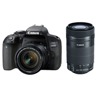Canon EOS 800D Twin Kits (18-55)(55-250 STM) Digital SLR Camera (PRIORITY DELIVERY + FREE ACCESSORY)