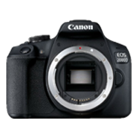 New Canon EOS 2000D Body Digital SLR Camera Black (FREE DELIVERY + 1 YEAR WARRANTY)
