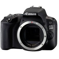New Canon EOS 200D 24.2MP Body Digital Camera Black (FREE DELIVERY + 1 YEAR WARRANTY)