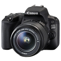 New Canon EOS 200D 24.2MP Kit (18-55 III) Digital Camera Black (FREE DELIVERY + 1 YEAR WARRANTY)