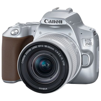 New Canon EOS 250D Kit 18-55 STM Digital Cameras Silver (FREE DELIVERY + 1 YEAR WARRANTY)