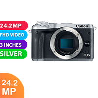 New Canon EOS M6 Body Only Digital Camera Silver (FREE DELIVERY + 1 YEAR WARRANTY)
