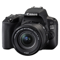 New Canon EOS 200D 24.2MP Kit (18-55mm) Digital Camera Black (FREE DELIVERY + 1 YEAR WARRANTY)
