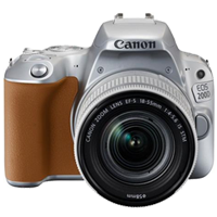New Canon EOS 200D 24.2MP Kit (18-55mm) Digital Camera Silver (FREE DELIVERY + 1 YEAR WARRANTY)
