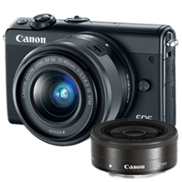 New Canon EOS M100 kit (15-45mm) (22mm) Digital Cameras Black (FREE DELIVERY + 1 YEAR WARRANTY)