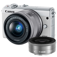 New Canon EOS M100 kit (15-45mm) (22mm) Digital Cameras White (FREE DELIVERY + 1 YEAR WARRANTY)