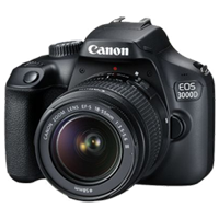 New Canon EOS 3000D 18MP (18-55 III) Lens Kits Digital Camera (FREE DELIVERY + 1 YEAR WARRANTY)