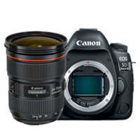 Canon EOS 5D Mark IV with EF 24-70mm f/2.8L II USM Lens Kit (1 YEAR WARRANTY)