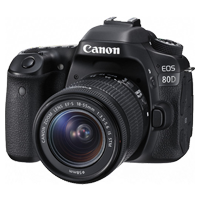 New Canon EOS 80D 24.2MP Kit (18-55mm) Digital Cameras (FREE DELIVERY + 1 YEAR WARRANTY)