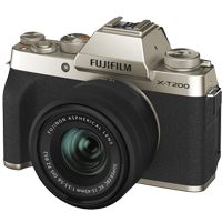 New Fujifilm X-T200 Kit (15-45mm) Digital Camera Champagne Gold (FREE DELIVERY + 1 YEAR WARRANTY)