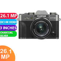 New FUJIFILM X-T30 Mirrorless Digital Camera with 15-45mm Lens Charcoal Silver (FREE DELIVERY + 1 YEAR WARRANTY)