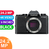 New Fujifilm X-T100 24MP Digital Camera Body Only Black  (FREE DELIVERY + 1 YEAR WARRANTY)