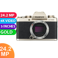 New Fujifilm X-T100 24MP Digital Camera Body Only Champagne Gold (FREE DELIVERY + 1 YEAR WARRANTY)