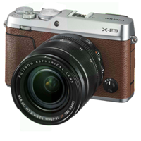 New Fujifilm X-E3 24MP (18-55) Kit Brown (FREE DELIVERY + 1 YEAR WARRANTY)
