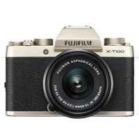 New Fujifilm X-T100 Mirrorless 24MP (15-45mm) Digital Camera Champagne Gold (FREE DELIVERY + 1 YEAR WARRANTY)