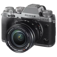New Fujifilm X-T2 Mirrorless 24MP (18-55mm) Digital Camera Graphite Silver (FREE DELIVERY + 1 YEAR WARRANTY)
