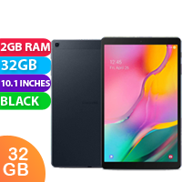New Samsung Galaxy Tab A 10.1 2GB RAM 32GB Cellular Tablet Black (FREE DELIVERY + 1 YEAR WARRANTY)