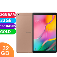 New Samsung Galaxy Tab A 10.1 2GB RAM 32GB Cellular Tablet Gold (FREE DELIVERY + 1 YEAR WARRANTY)