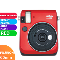 New FujiFilm Instax Mini 70 Camera Red (FREE DELIVERY + 1 YEAR WARRANTY)