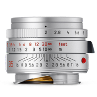 Leica SUMMICRON-M 35mm f/2 ASPH Lens Silver (1 YEAR WARRANTY)