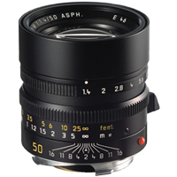 Leica SUMMILUX-M 50mm f/1.4 ASPH Lens Black (1 YEAR WARRANTY)