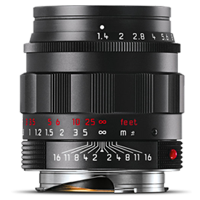 New Leica SUMMILUX-M 50mm f/1.4 ASPH Lens Black Chrome (FREE DELIVERY + 1 YEAR WARRANTY)