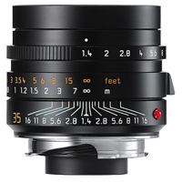 Leica SUMMILUX-M 35mm f/1.4 ASPH Lens Black (1 YEAR WARRANTY)