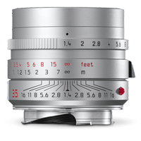 Leica SUMMILUX-M 35mm f/1.4 ASPH Lens Silver (1 YEAR WARRANTY)