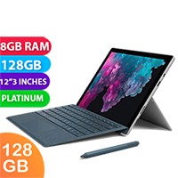 New Microsoft Surface Pro 6 i5 128GB 8GB RAM Platinum (FREE DELIVERY + 1 YEAR WARRANTY)