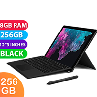 New Microsoft Surface Pro 6 i5 256GB 8GB RAM Black (FREE DELIVERY + 1 YEAR WARRANTY)