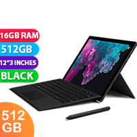 New Microsoft Surface Pro 6 i7 512GB 16GB RAM Black (FREE DELIVERY + 1 YEAR WARRANTY)