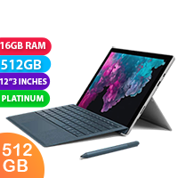 New Microsoft Surface Pro 6 i7 512GB 16GB RAM Platinum (FREE DELIVERY + 1 YEAR WARRANTY)