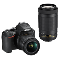 New Nikon D3500 Kit AF-P (18-55) (70-300) Digital Camera Black (FREE DELIVERY + 1 YEAR WARRANTY)