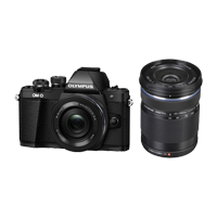 New Olympus E-M10 III TwinKit (14-42 EZ)(40-150) Digital Cameras Black (FREE DELIVERY + 1 YEAR WARRANTY)